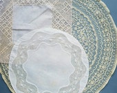 Set of 3 vintage  doilies.