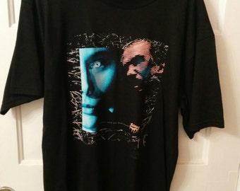 vintage men's Skinny Puppy tshirt black punk goth electronic music avant garde Nettwerk Records industrial music scene