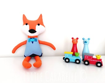 Fantastic Mr Fox Rag Doll Custom Handmade Soft Toy CE marked Perfect for playtime