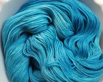 Great Blue Yonder -- Posh Socks -- Hand Painted Cashmere/Merino/Nylon Sock Yarn