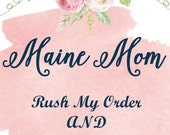RUSH Your Order And Ship PRIORITY Mail UPGRADE Baby Monthly Stickers Maine Mom Boutique