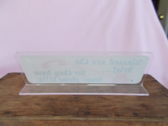 vintage plastic desk plaque from ladygirltreasures on etsy. Black Bedroom Furniture Sets. Home Design Ideas
