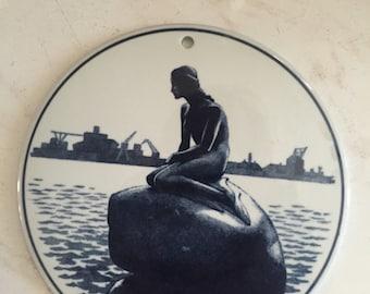 Royal Copenhagen tile of The Little Mermaid