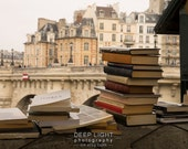 Paris Photograph Book Stalls Seine Books France Photo Wall Art Home Decor Beige Tan Brown Neutral Colors par105
