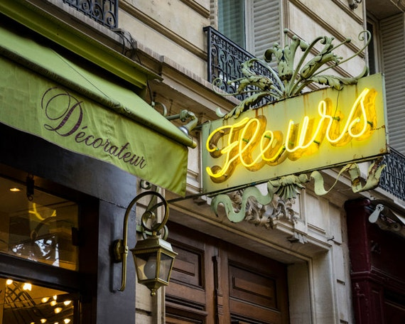 photo of a flower shop sign in paris flowers photography. Black Bedroom Furniture Sets. Home Design Ideas