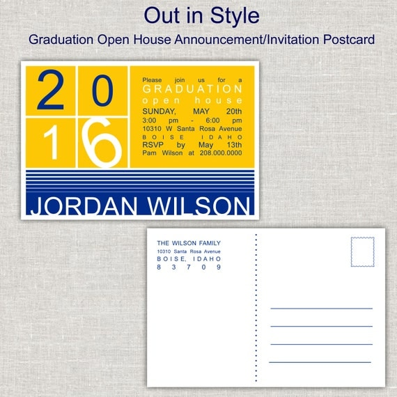 Graduation announcement commencement invitation open house party il570xn filmwisefo