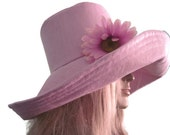 Lavender Womens Wide Brim Sunhat Pool hat Beach Hat Summer Hat
