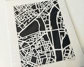 FLASH SALE london hand cut map, 8x10