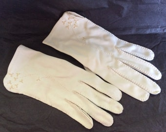 Vintage White Dress Gloves