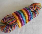 Sale: Russian Rainbow Self-striping Superwash Merino and Nylon Blend Sock Yarn