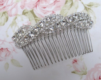 Silver Rhinestone Bridal Hair Comb,Rhinestone Wedding Hair Comb,Bridal Hair Accessories,Wedding Accessories,Decorative Hair Comb,#C15