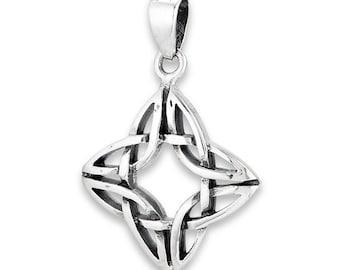 Sterling silver Celtic Knot, Irish pendant