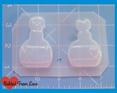 SALE Akiko's Posion Bottle and Love Potion Bottle  Handmade Plastic Resin Mold