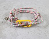 Custom order for Evelyn - Cord Tiga - colourful skits sailing cord wrap bracelet with clasp, adjustable size