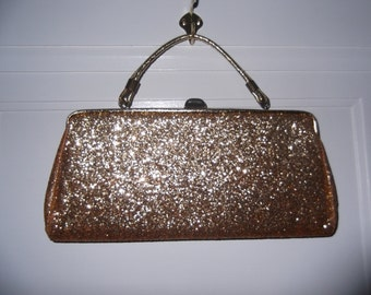 Good as Gold Glitter Clutch Bag Free Shipping
