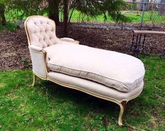 Antique French Provincial Chaise Lounge
