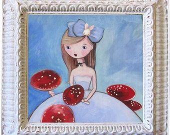 Alice In Wonderland, Girl Art Print