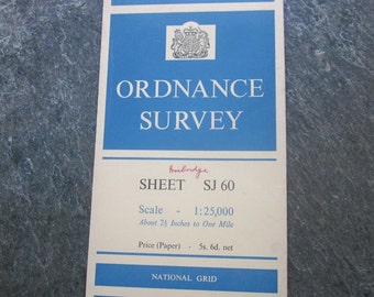 1958 Vintage Ordnance Survey Map of Ironbridge