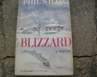 Vintage Book Blizzard A Novel by Phil Stong