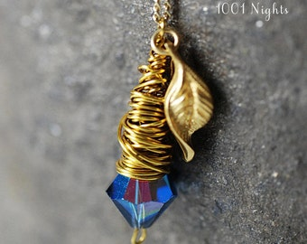 1001 Nights Vintage Gold Plated Necklace