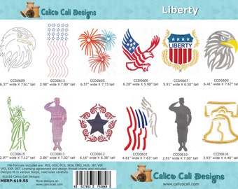Liberty - Machine Embroidery Design Collection