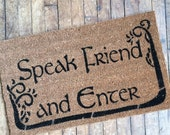 SALE! Tolkien - Speak Friend and Enter- with  TREES