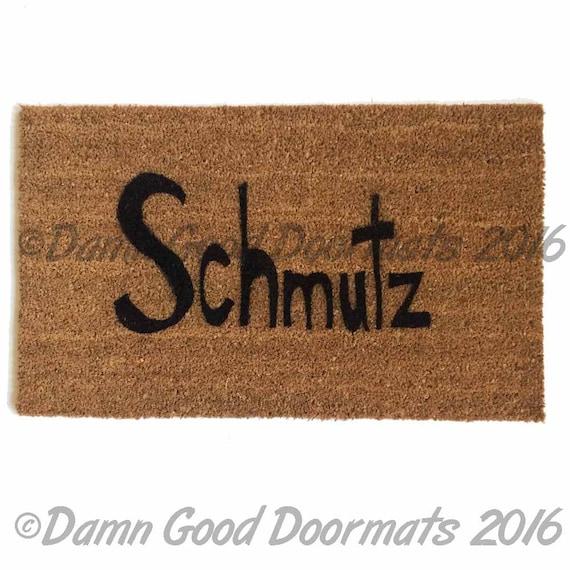 Jewish Judaica yiddish Schmutz doormat entrance rug