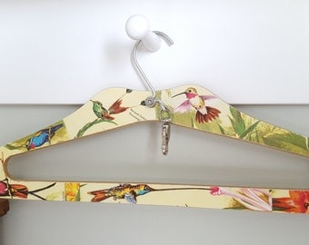 Vintage Hummingbird Hanger Upcycled With a Glossy Vintage Children's Book Front