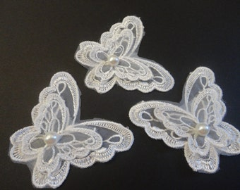 3 lace Butterfly appliques