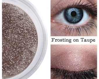 Eyeshadow, Frosting on Taupe, Taupe Eye Shadow, Taupe Eyeshadow, Mineral Eyeshadow, Mineral Makeup, Vegan, Cruelty Free, Eye Makeup