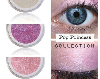 Eyeshadow Kit, Pink Purple, Eye Shimmer, POP PRINCESS, Eye Shadow Trio, Natural Shadow, Mineral Eye Colors, Vegan Pink Purple, Eyeshadow