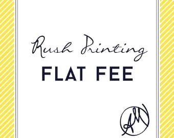 Rush Professional Printing Fee