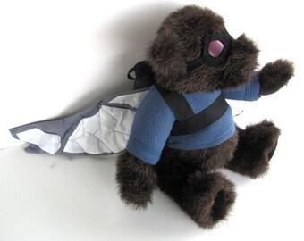 Sam Wilson Falcon Bear, altered bear stuffed toy