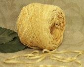 Corn Yellow, Lightweight Chenille Yarn, Fingering Sport Weight, Crochet or Knit,  BIN 33