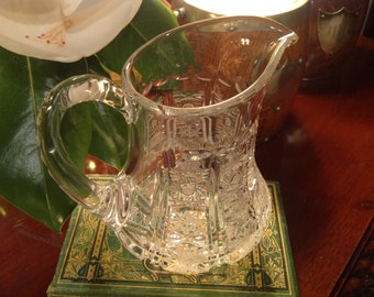 Vintage Glass Water Pitcher Retro Barware