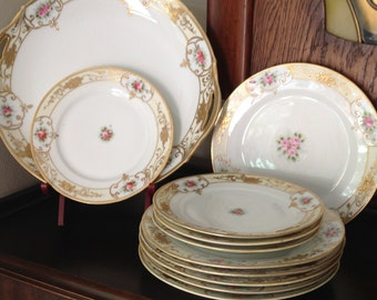 Vintage Handpainted Bone China to Mix and Match