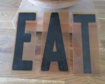 vintage letters e a t plastic industrial letters tea display ephemera marquee sign restaurant deli cafe sign industrial letters
