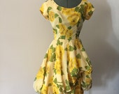1950s 1960s Mid Century Cocktail Dress