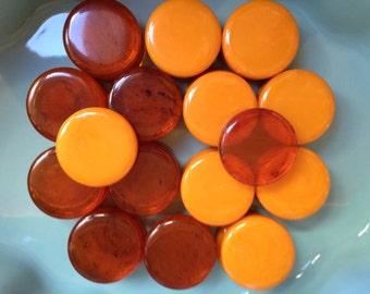 Bakelite Backgammon Chips 30 Vintage Tested