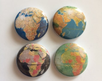 Vintage Maps Button Pack Collection