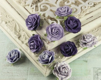 Prima Flowers Floret Jasmine Mulberry Paper Roses in Purple 548117 crafts scrapbooking embellishments