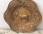 1904 St Louis Exposition Souvenir Pin Dish, Donkey, Missouri
