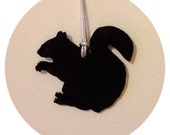 Black Squirrel Holiday Tree Ornament - Christmas Ornament - Animal Shape - Holiday Decor
