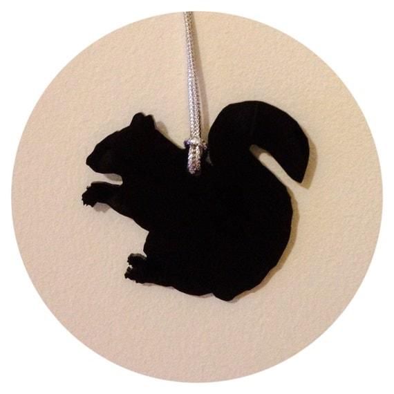 Black Squirrel Holiday Tree Ornament Christmas Ornament