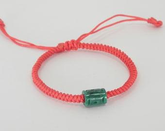 Good Luck Jade lulutong Red String  Bracelet