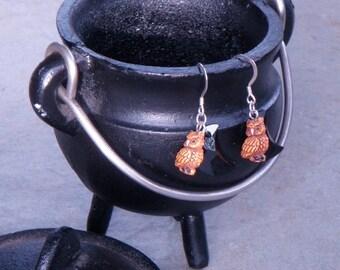 Owl Moon Earrings