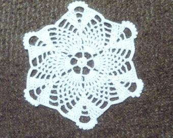 D-65. Crochet doily, 13.5 cm, Coasters, White Doily, Crochet Lace Doily, Round Doily, Valentine's Day, small doily, Christmas doily