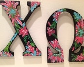 Chi Omega Greek Letters hand painted Kappa, Tri delta, PiPhi
