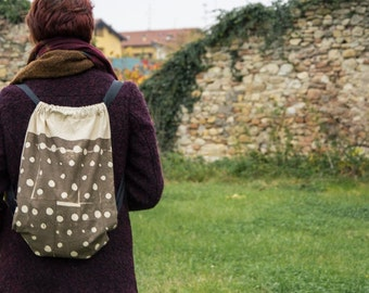 VEGETAL PRINT backpack  *polkadots