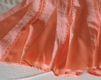 so pretty ballerina cotton gauze silk and lace gored skirt, s